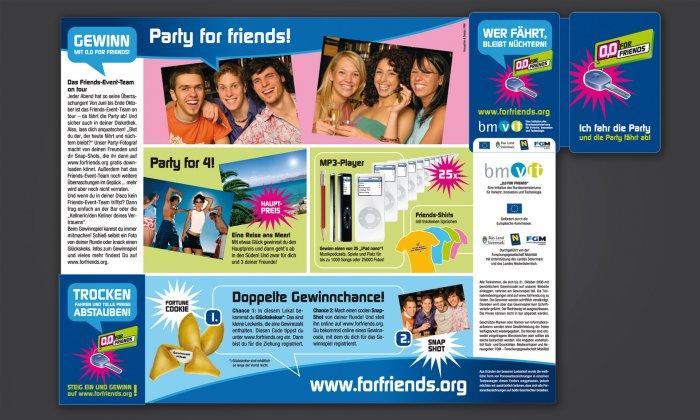 "Streichholz-Folder ""0;0 for Friends"""